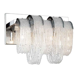 "9"" 3 Light Vanity Light with Chrome finish"