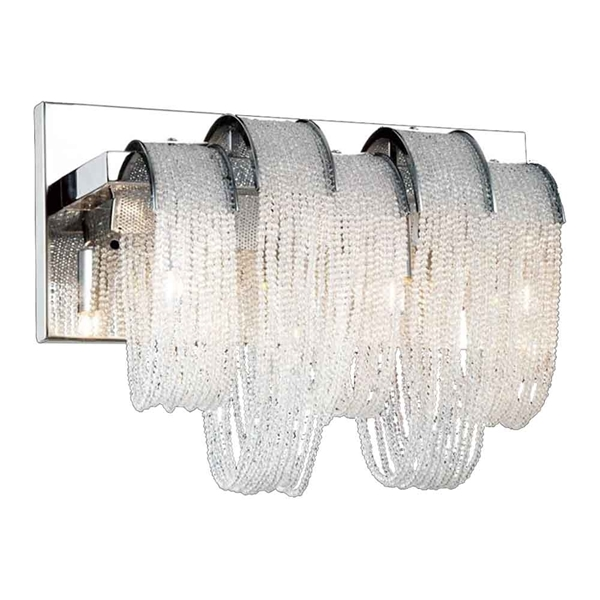 "Picture of 9"" 3 Light Vanity Light with Chrome finish"