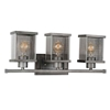 "Picture of 9"" 3 Light Wall Sconce with Black Silver finish"