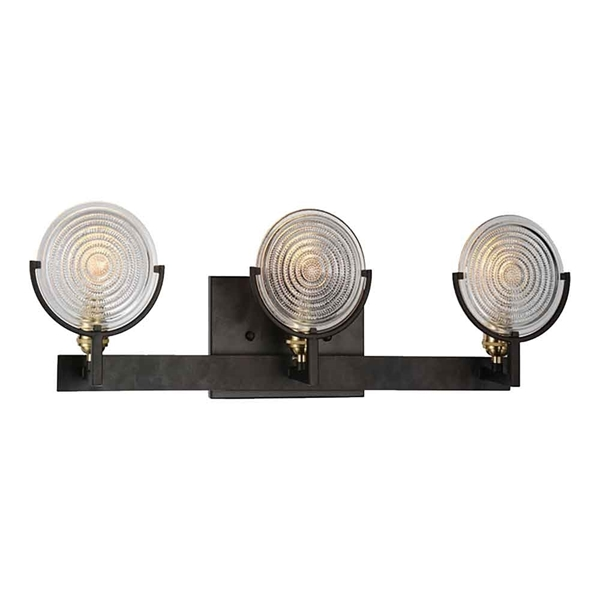 """Picture of 9"""" 3 Light Wall Sconce with Brown finish"""