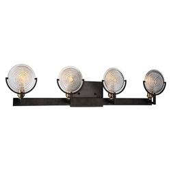 """9"""" 4 Light Wall Sconce with Brown finish"""