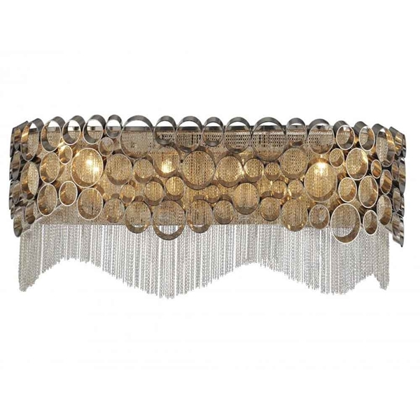 """Picture of 9"""" 4 Light Wall Sconce with Chrome finish"""