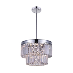 """9"""" 5 Light Down Mini Chandelier with Chrome finish"""